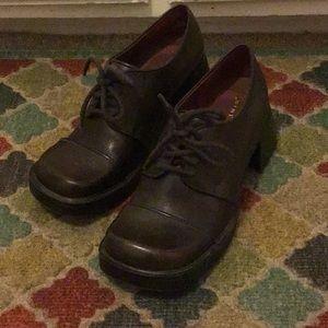 Chunky Nine West 90s vintage brown leather